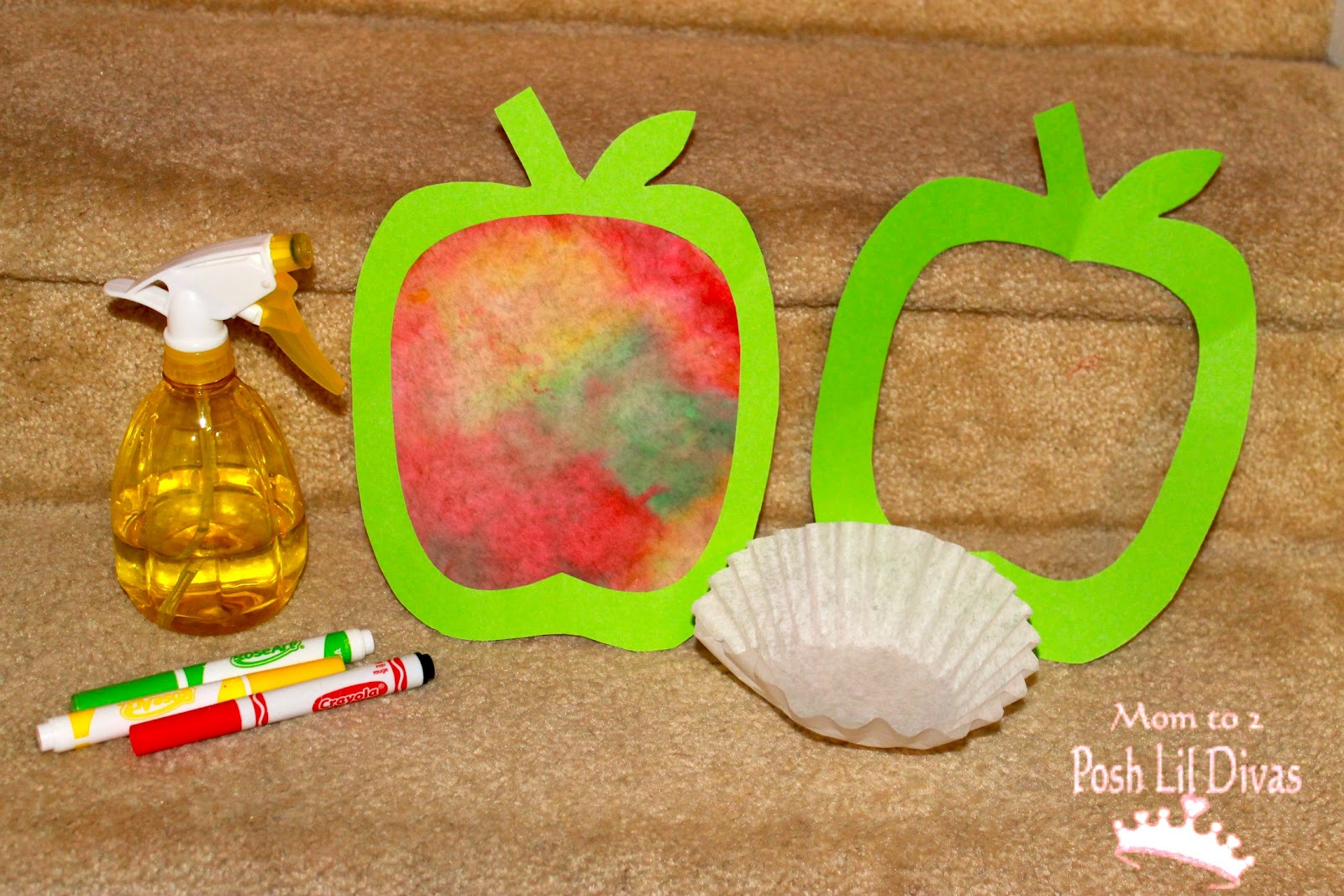 Coffee filter apple art go au pair new jersey for Coffee crafts