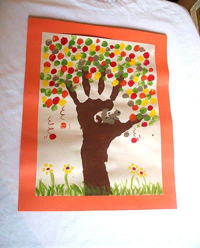 Fall Fingerprint Tree Craft Go Au Pair New Jersey