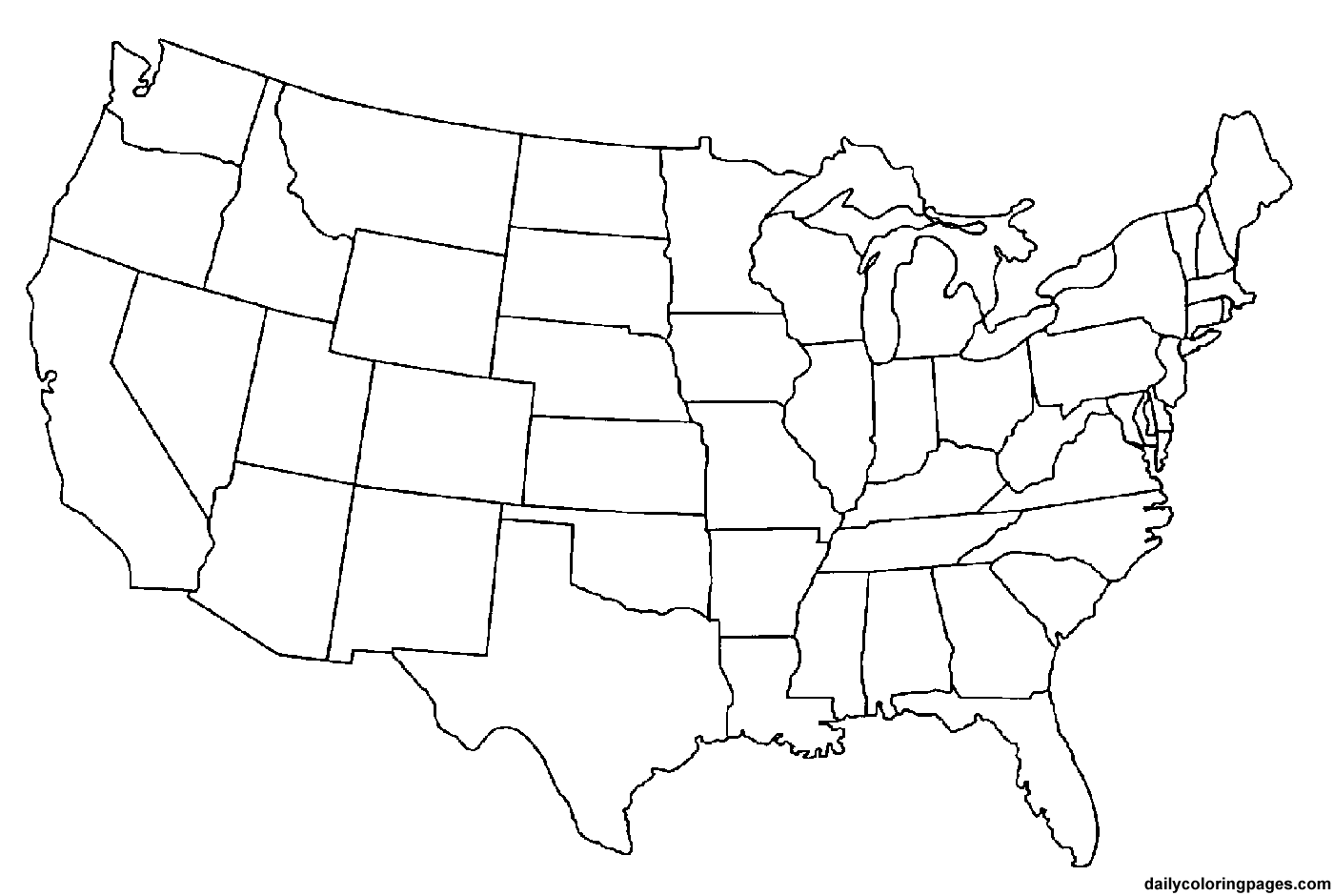United States Map For Coloring